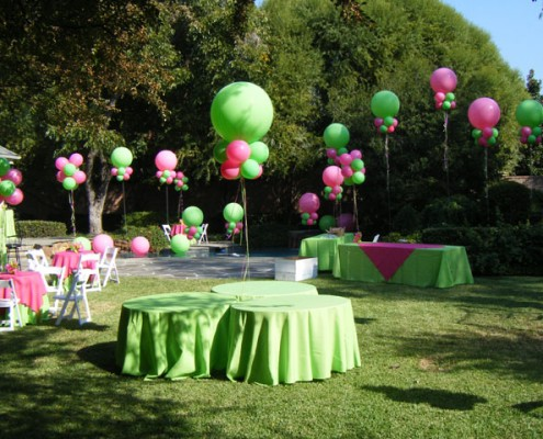 3' balloons with colars
