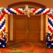 Cowboy Balloon Arch