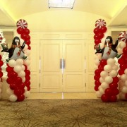Balloon column - Candy Cane