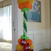 Balloon column - Lady Bug