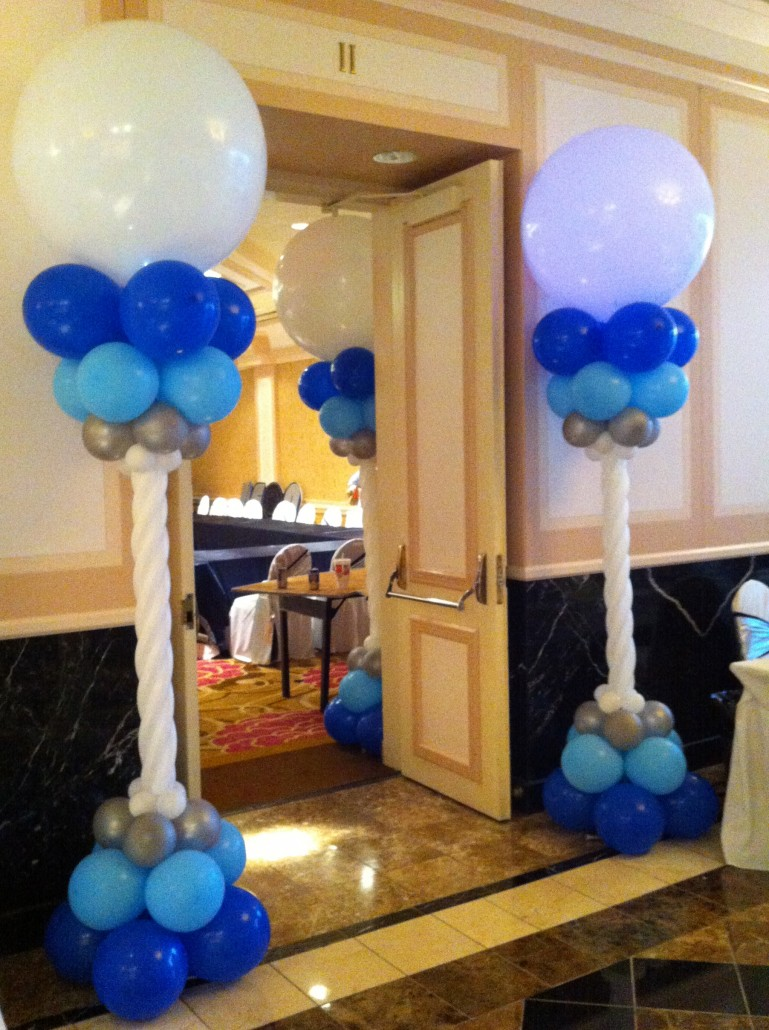 Balloon columns balloon city for Balloon column decoration