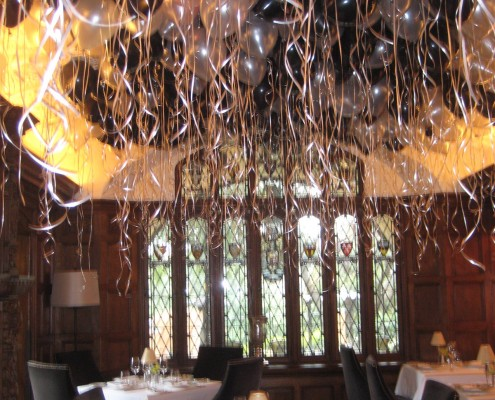 ceiling flood helium balloons