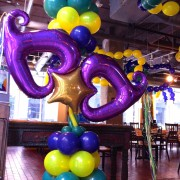 Balloon column - Mardi Gras