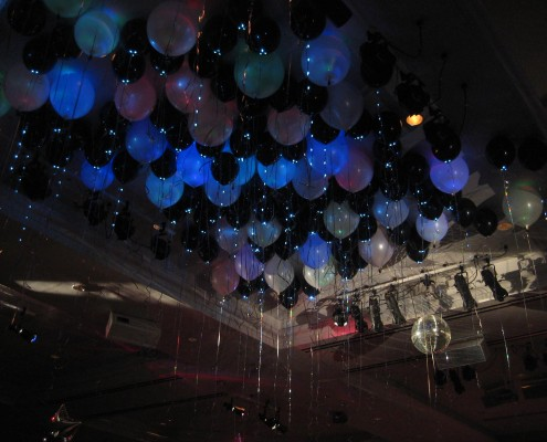 ceiling-dance floor lighted balloons