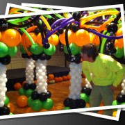 Balloon column - Halloween