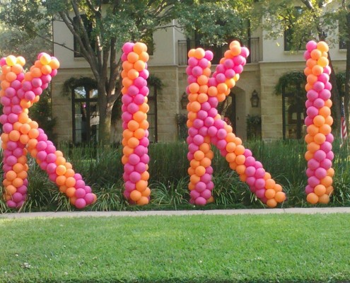 letter balloon sculputures