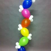 Balloon column - zig zag