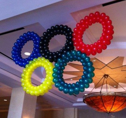 Balloon Olympic rings