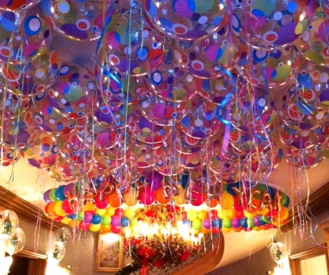 ceiling-dance floor balloon flood
