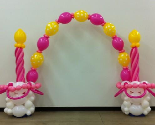 cake balloon sculpture