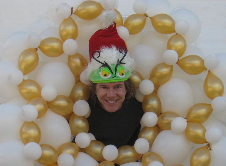 Christmas balloon snowflake