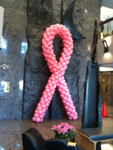 pink balloon ribbon